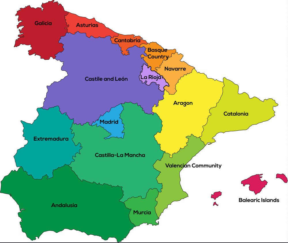 نقشه اسپانیا