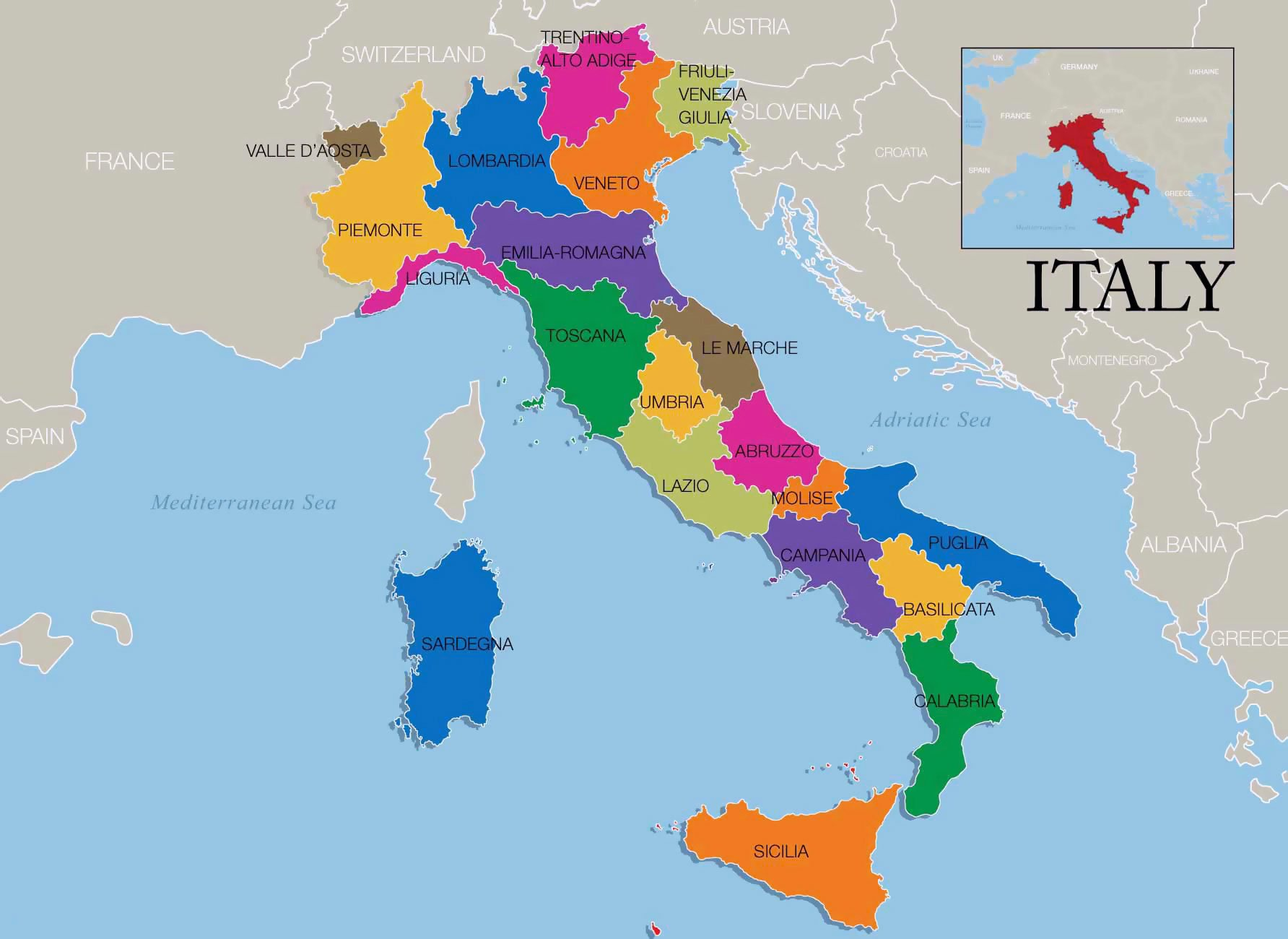 نقشه ایتالیا